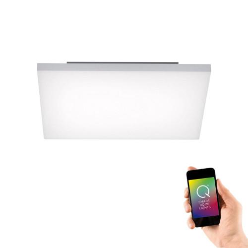 Paul Neuhaus Q-FRAMELES 45x45cm Silver and White Smart LED Ceiling Light