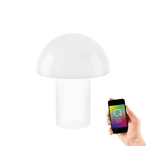 Paul Neuhaus Q-LIDO 34 Tall White Mushroom Smart LED Table Lamp