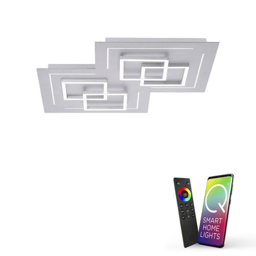 Paul Neuhaus Q-LINEA 8 Light Aluminium Smart LED Ceiling Light