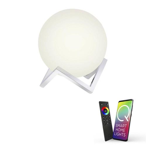 Paul Neuhaus Q-MANUEL Chrome with Opal Smart LED Table Lamp