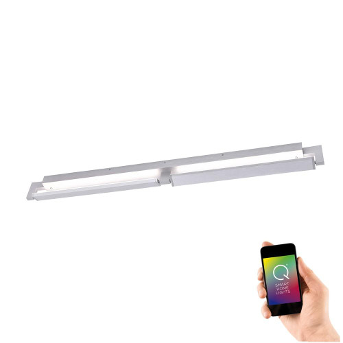 Paul Neuhaus Q-MATTEO 2 Light Aluminium Smart LED Wall or Ceiling Light