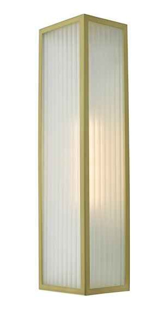 Keegan 1 Light Satin Brass IP44 Bathroom Wall Light