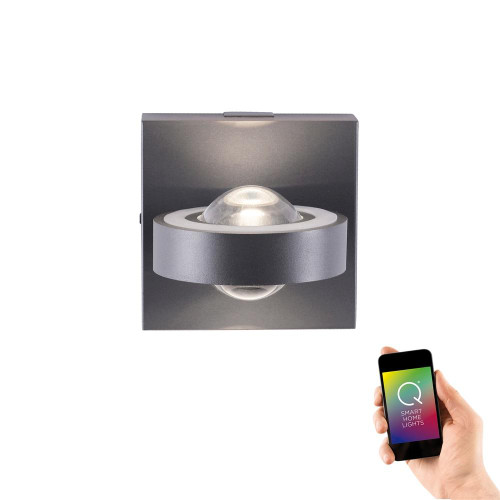 Paul Neuhaus Q-MIA Anthracite Adjustable Smart LED Wall Light