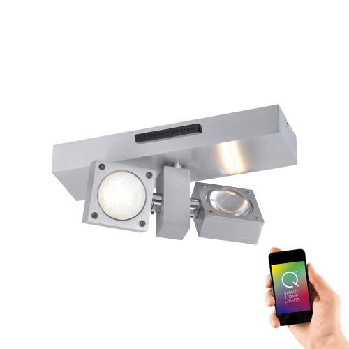 Paul Neuhaus Q-MIRAN 2 Light Aluminium Smart LED Wall or Ceiling Light