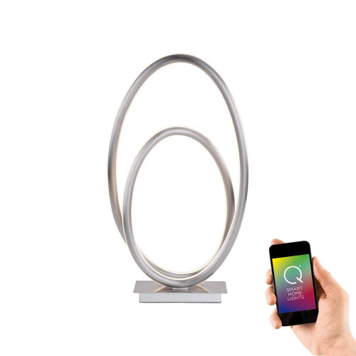 Paul Neuhaus Q-NEVIO Satin Chrome Smart LED Table Lamp