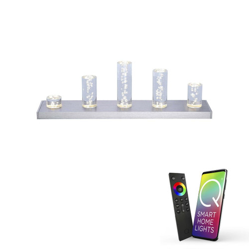Paul Neuhaus Q-SKYLINE 5 Light Aluminium Smart LED Table Lamp