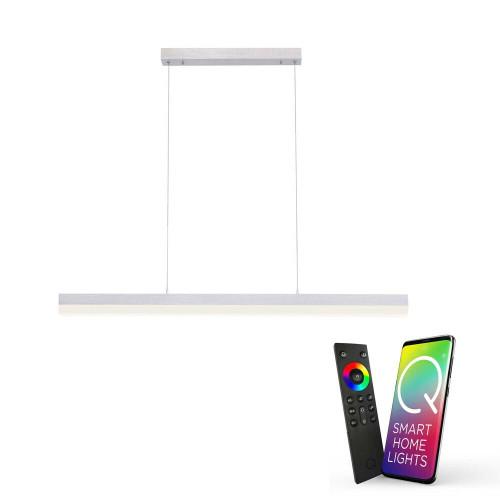 Paul Neuhaus Q-TIMBER 3 Light Aluminium Smart LED Bar Pendant Light