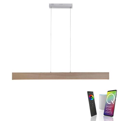 Paul Neuhaus Q-TIMBER Natural Wood Smart LED Pendant Light