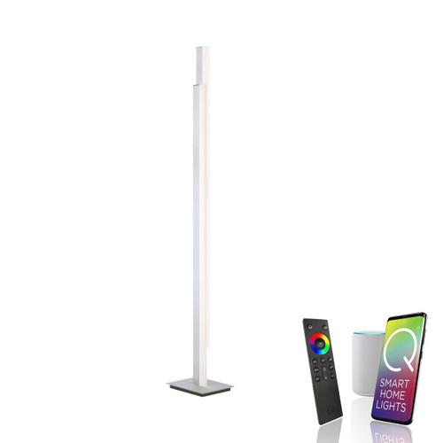 Paul Neuhaus Q-TOWER 2 Light Aluminium Smart LED Floor Lamp