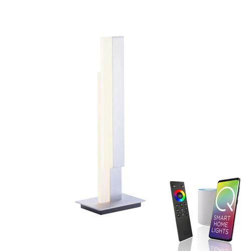 Paul Neuhaus Q-TOWER 2 Light Aluminium Smart LED Table Lamp