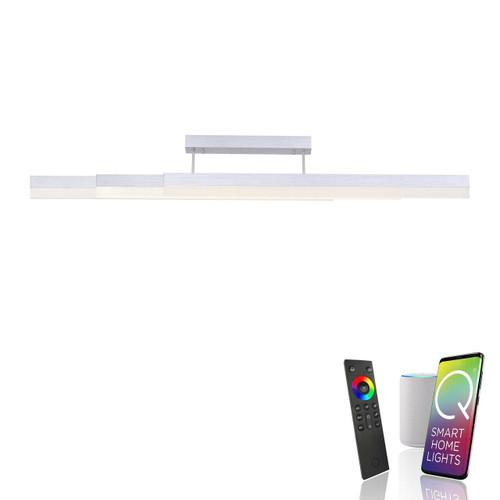 Paul Neuhaus Q-TOWER 3 Light Aluminium Smart LED Ceiling Light