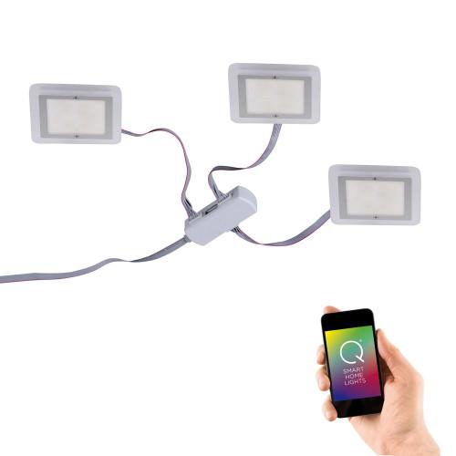 Paul Neuhaus Q-VIDAL 3 Pack Chrome Smart LED Recessed Downlight