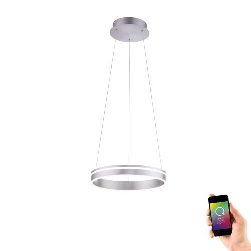 Paul Neuhaus Q-VITO 40 Aluminium Ringed Smart LED Pendant Light