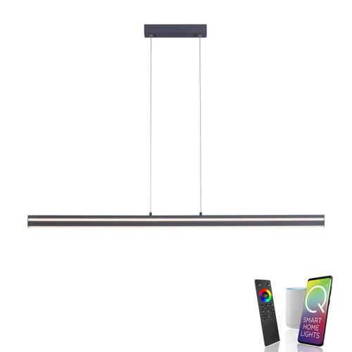 Paul Neuhaus Q-VITO Anthracite Smart LED Bar Pendant Light