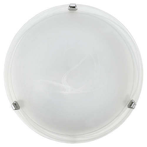 Eglo Lighting Salome White Glass Alabaster 400 Wall and Ceiling Light