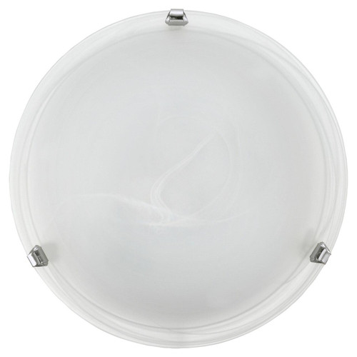 Eglo Lighting Salome White Glass Alabaster with Chrome Enclosure 300 Wall and Ceiling Light