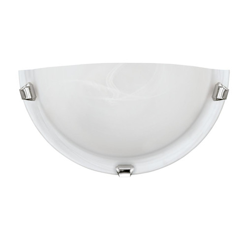 Eglo Lighting Salome White Glass Alabaster with Chrome Wall Light