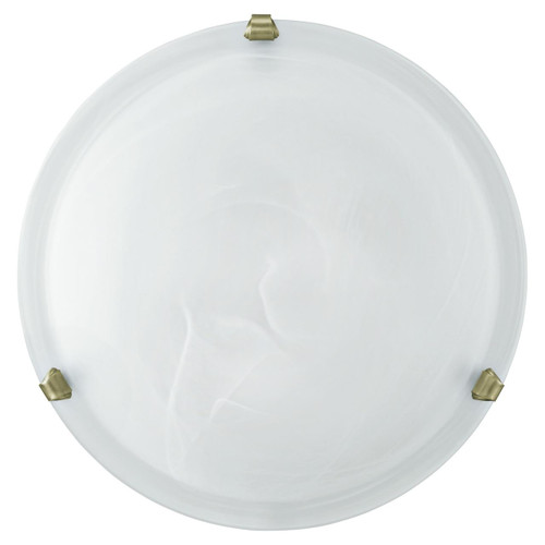 Eglo Lighting Salome White Glass Alabaster with Bronzed Enclosure 300 Ceiling Light