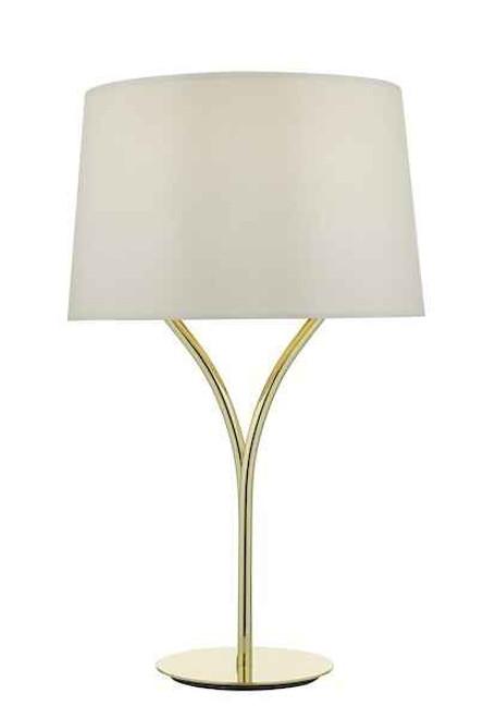 Kinga Polished Gold with Shade Table Lamp