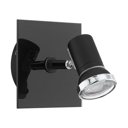 Eglo Lighting Tamara Black and Chrome with Clear Glass Spotlight
