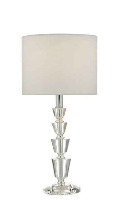 Kody Crystal & Polished Chrome With Shade Table Lamp
