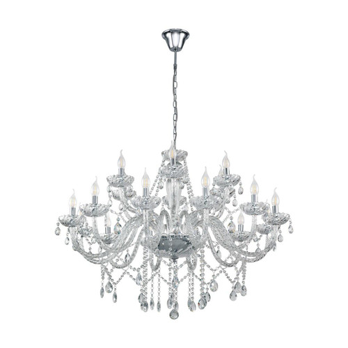 Eglo Lighting Basilano 1 18 Light Chrome with Clear Glass Chandelier