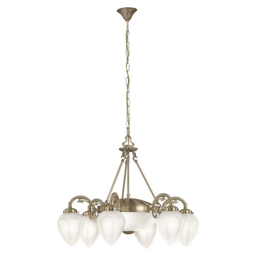 Eglo Lighting Imperial 6 Light Bronzed with White Satin Glass Wall and Ceiling Light