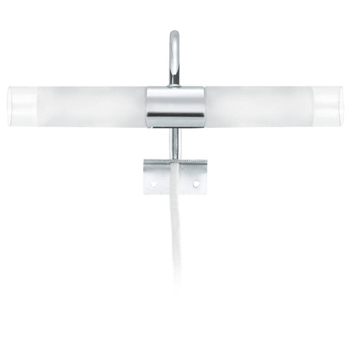Eglo Lighting Granada Chrome with Clear White Satin Glass Wall Light