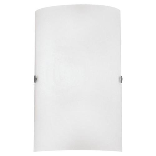Eglo Lighting Troy 3 Satin Nickel with White Satin Glass Wall Light