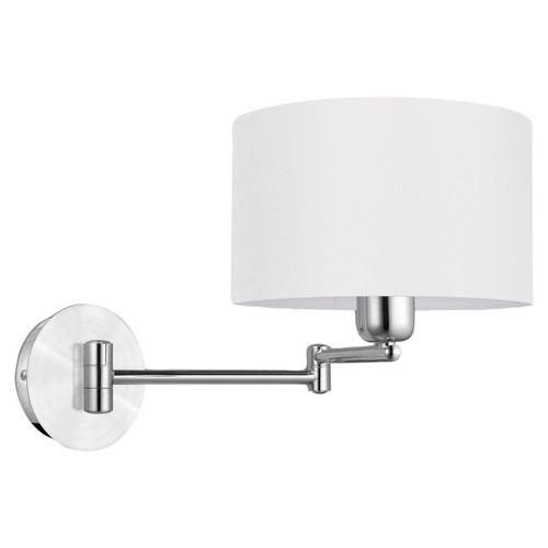 Eglo Lighting Halva Aluminium Chrome with Beige Fabric Shade Wall Light
