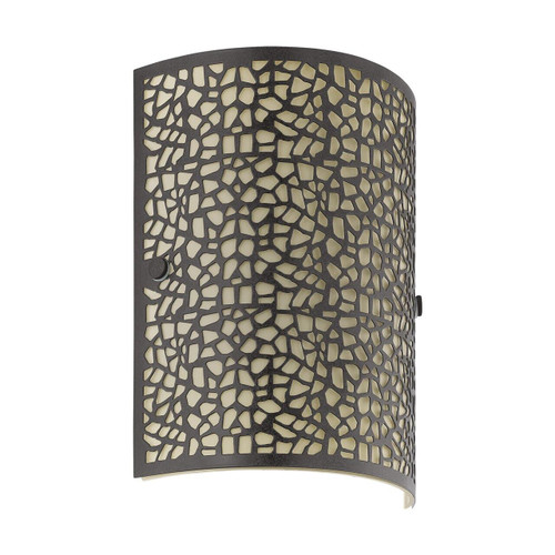 Eglo Lighting Almera Antique Brown with Champagne Glass Shade Wall Light