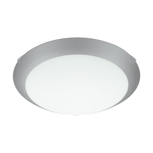 Eglo Lighting Mars 1 White and Silver with Satin Glass Shade Wall and Ceiling Light