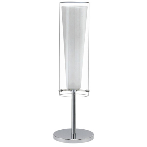 Eglo Lighting Pinto Chrome with Clear White Glass Shade Bar Table Lamp