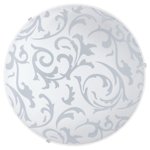 Eglo Lighting Scalea White with Decor Satin Glass Shade Wall and Ceiling Light