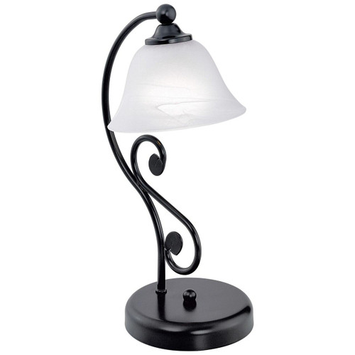 Eglo Lighting Murcia Black with White Alabaster Glass Shade Table Lamp
