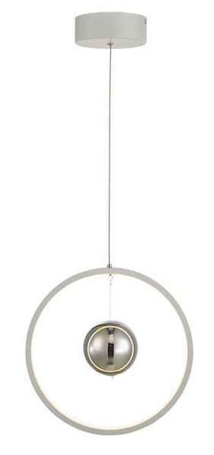 Mercury Vertical White LED Ring Pendant Light