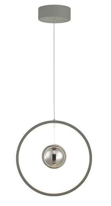 Mercury Vertical Grey LED Ring Pendant light