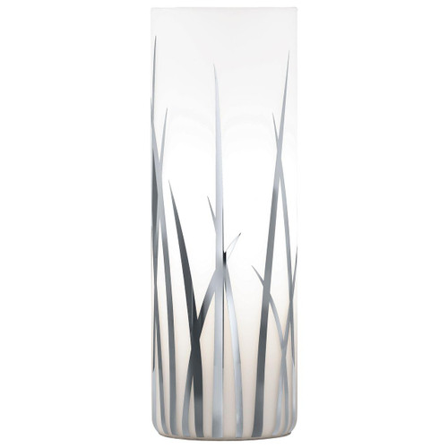 Eglo Lighting Rivatio White and Chrome Painted Glass Shade Table Lamp