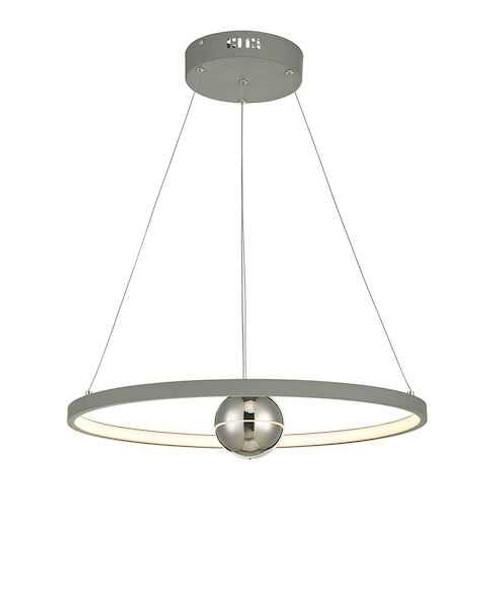 Mercury Horizontal Grey LED Ring Pendant light
