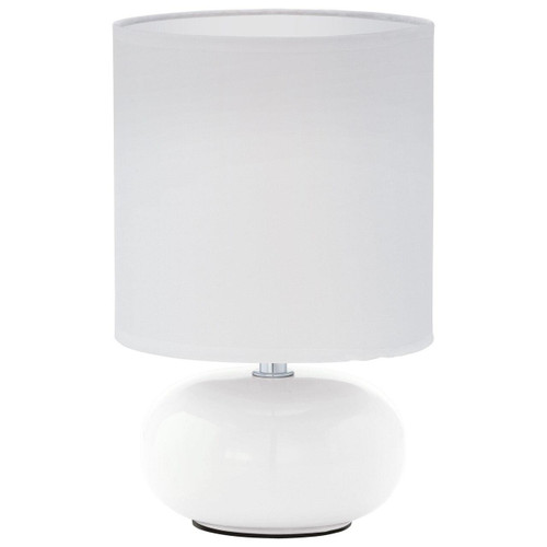 Eglo Lighting Trondio White with Fabric Shade Table Lamp