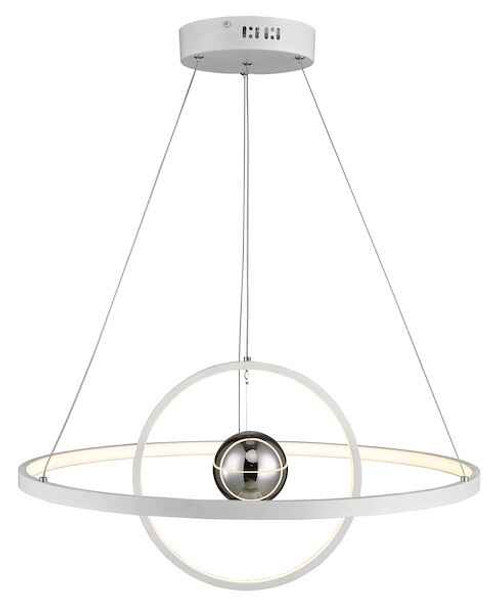 Mercury Horizontal 2 Sphere White LED Ring Pendant light
