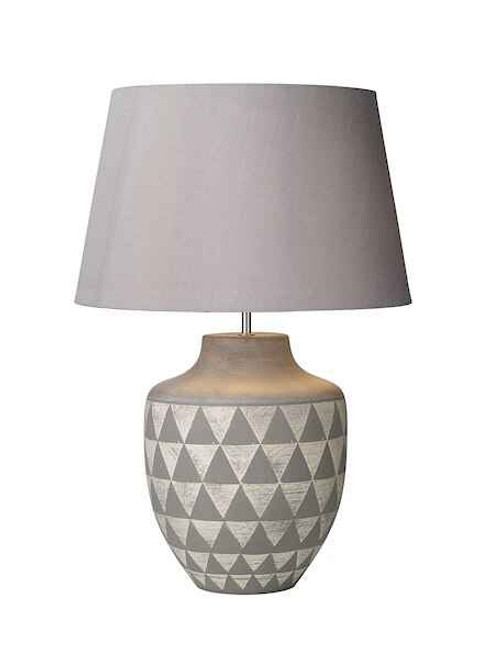 Mulan Ceramic and Grey Base Only Table Lamp