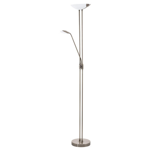 Eglo Lighting Baya LED Bronzed with Satined White Glass and Plastic Shades Floor Lamp