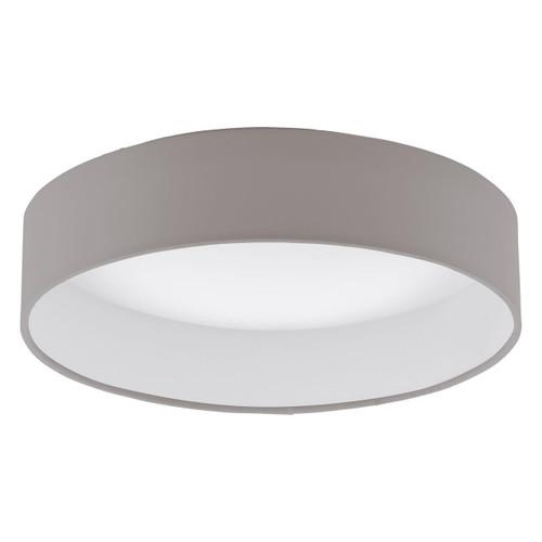 Eglo Lighting Palomaro White with 320 Taupe Fabric Shade Ceiling Light