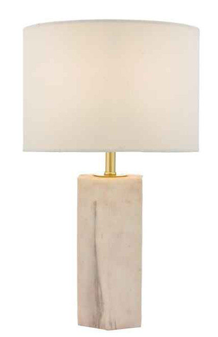 Nalani Pink and Marble with Ivory Linen Shade Table Lamp