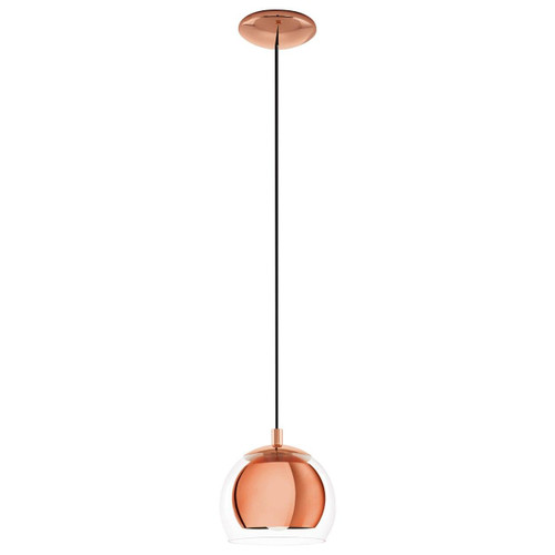 Eglo Lighting Rockamar Copper with Clear Glass Shade Pendant Light