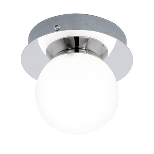 Eglo Lighting Mosiano Chrome with Opal White Glass Shade Wall and Ceiling Light