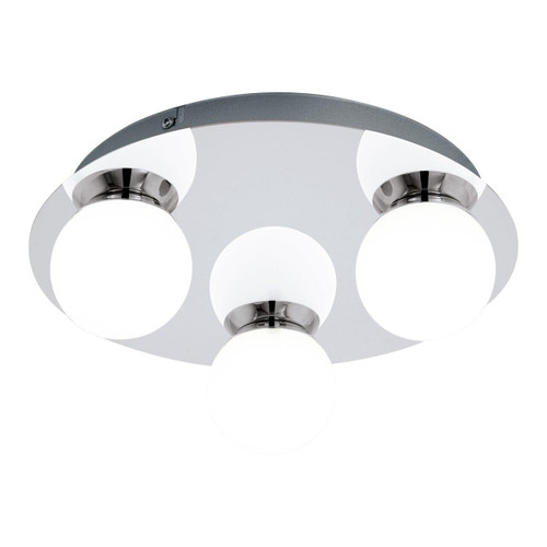 Eglo Lighting Mosiano 3 Light Chrome with Opal White Glass Shade Wall and Ceiling Light