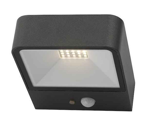 Noxolo Anthracite Square Solar Power PIR Sensor IP65 LED Outdoor Wall Light