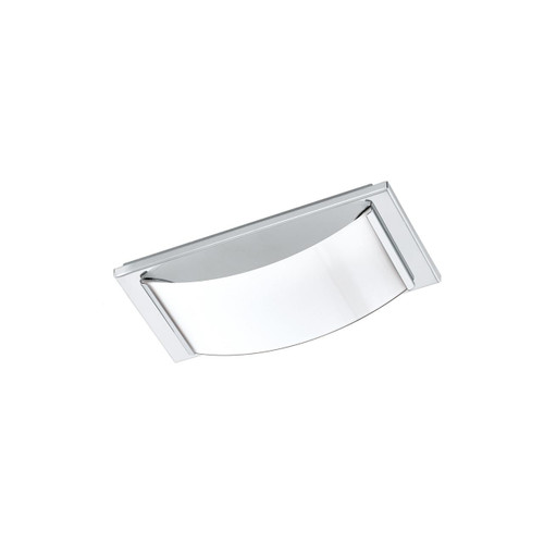 Eglo Lighting Wasao 1 Chrome with White Shade Wall and Ceiling Light